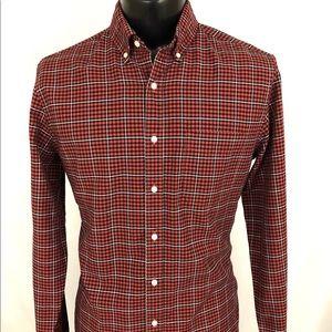 J. Crew Oxford Button Up Shirt Classic M Tall MT